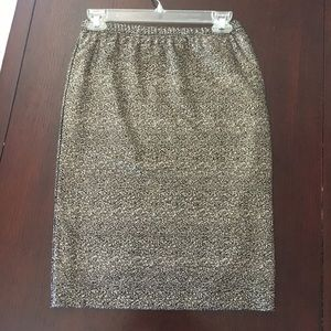 Black and Gold Sparkle Skirt